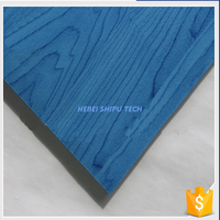 Blue Maple Grain Indoor Sports PVC Plastic Flooring