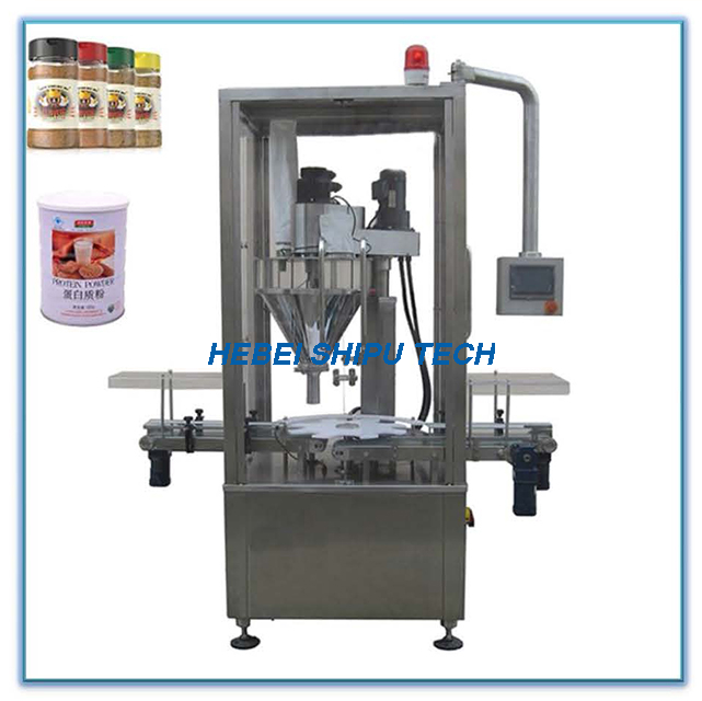 Automatic Tinplate Milk Powder Chicken Powder Bottle Filling Machine China Supplier
