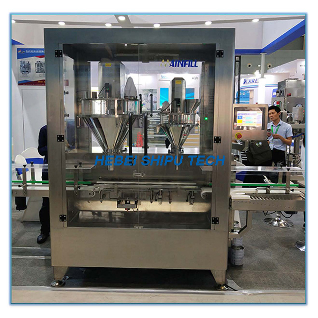 Automatic Milk Powder Can Filling Machine (1 Line 2fillers) China Manufacturer