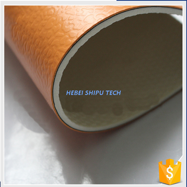Orange Diamond Grain Indoor PVC Plastic Sports Floor
